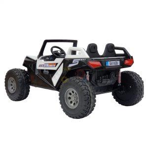 kids vip dune buggy challenger 24v sx1928 ride on kids 2 seater mp4 rubber wheels WHITE 7