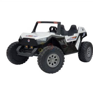 kids vip dune buggy challenger 24v sx1928 ride on kids 2 seater mp4 rubber wheels WHITE 8