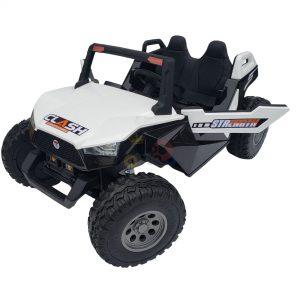 kids vip dune buggy challenger 24v sx1928 ride on kids 2 seater mp4 rubber wheels WHITE 9