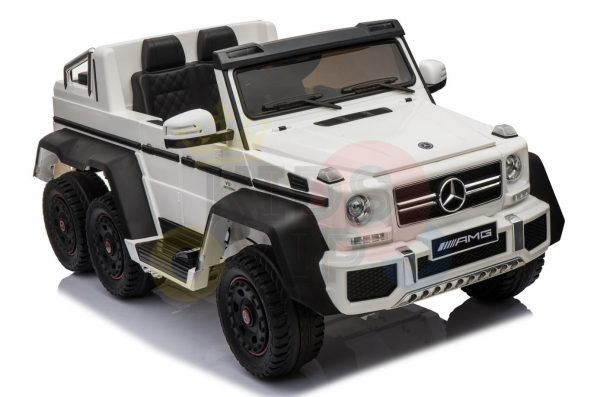 kidsvip 6x6 mercedes g63 ride on heavy duty ride on truck rubber wheels kids toddlers white 78