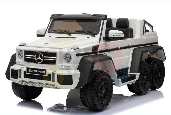 kidsvip 6x6 mercedes g63 ride on heavy duty ride on truck rubber wheels kids toddlers white 82