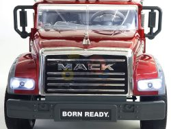 KIDSVIP 12V 2 SEATER MACK TRUCK LEATHER RUBBER WHEELS RC RED 1