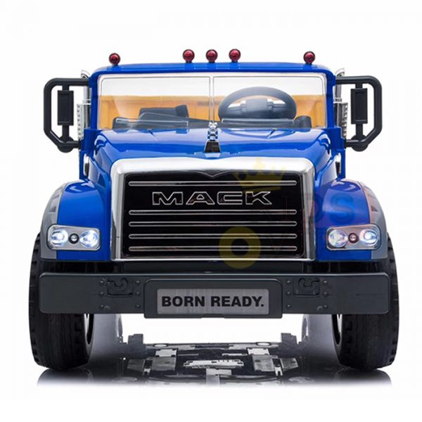 KIDSVIP 12V 2 SEATER MACK TRUCK LEATHER RUBBER WHEELS RC blue 10
