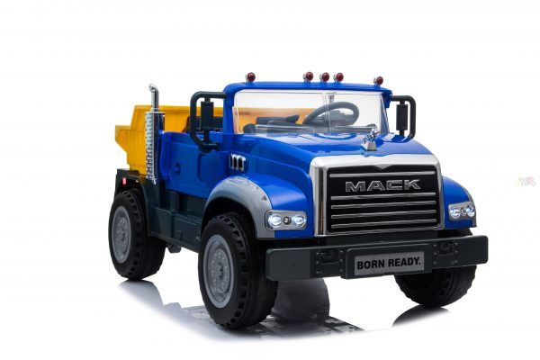 KIDSVIP 12V 2 SEATER MACK TRUCK LEATHER RUBBER WHEELS RC blue 2