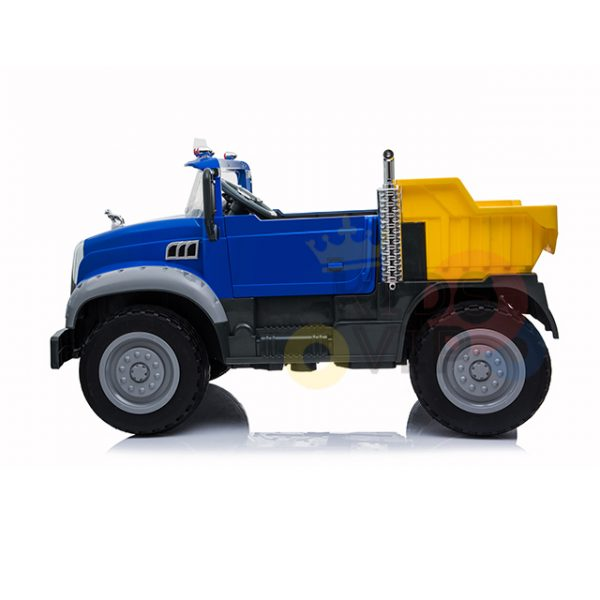 KIDSVIP 12V 2 SEATER MACK TRUCK LEATHER RUBBER WHEELS RC blue 6