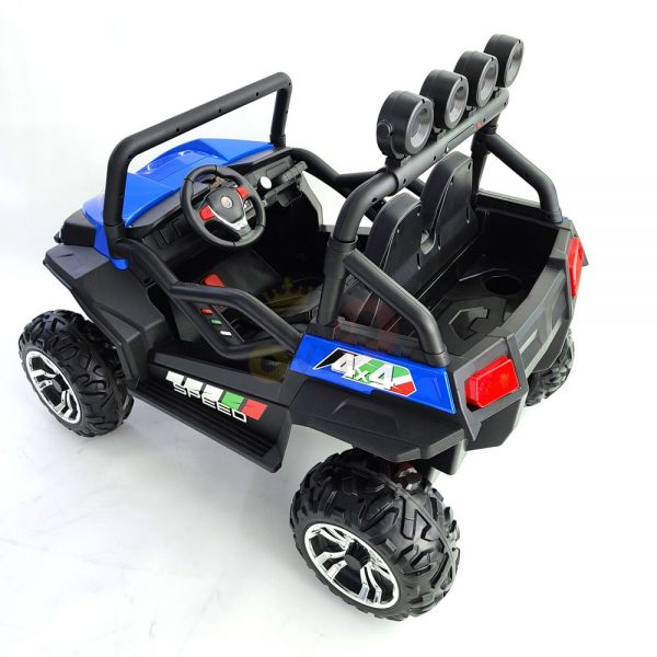 kidsvip 24V vipers 2 seats leather seats rubber wheels blue 22