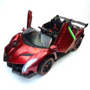 2 seats lamborghini ride on kids and toddlers ride on car 12v red 12