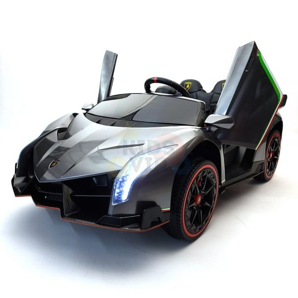 2 seats lamborghini ride on kids and toddlers ride on car 12v silver 11