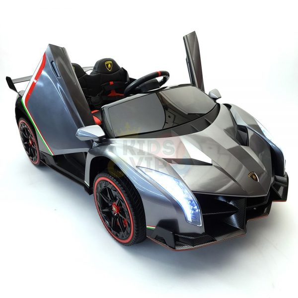 2 seats lamborghini ride on kids and toddlers ride on car 12v silver 46