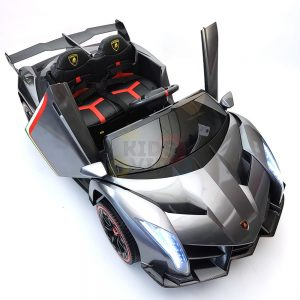 2 seats lamborghini ride on kids and toddlers ride on car 12v silver 48