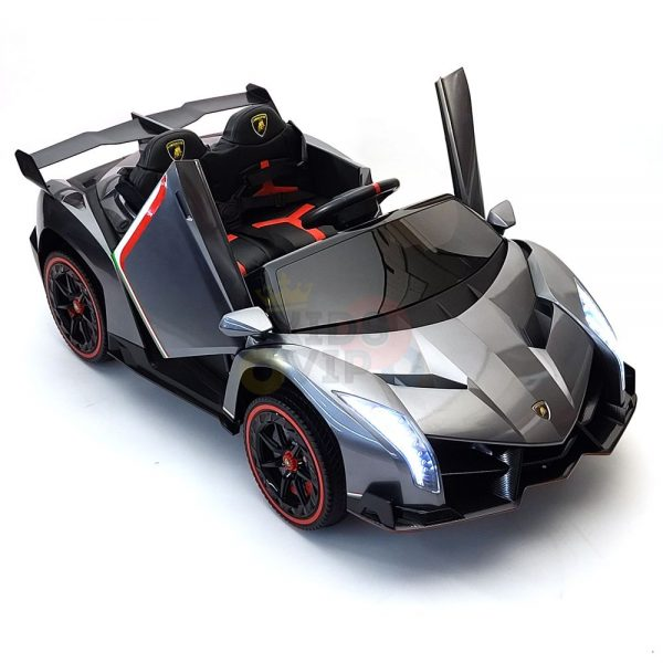 2 seats lamborghini ride on kids and toddlers ride on car 12v silver 49