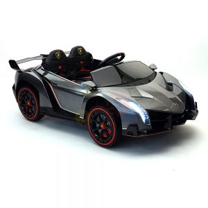 2 seats lamborghini ride on kids and toddlers ride on car 12v silver 52