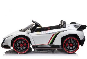 2 seats lamborghini ride on kids and toddlers ride on car 12v white 3