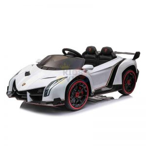 2 seats lamborghini ride on kids and toddlers ride on car 12v white 9
