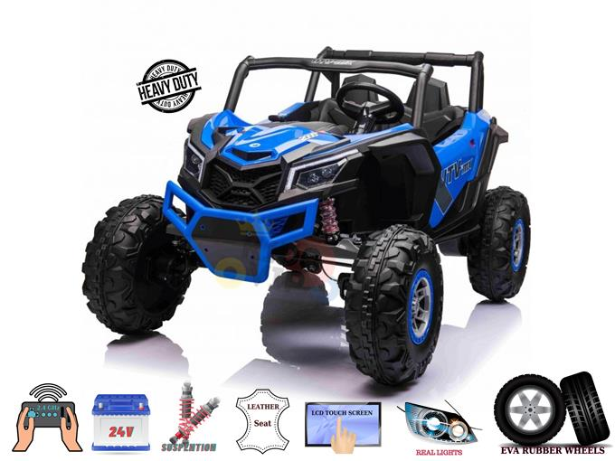 XXL 2 Seats Challenger 24V MX Buggy Edition Kids Ride On Car/ UTV with RC, Rubber Wheels