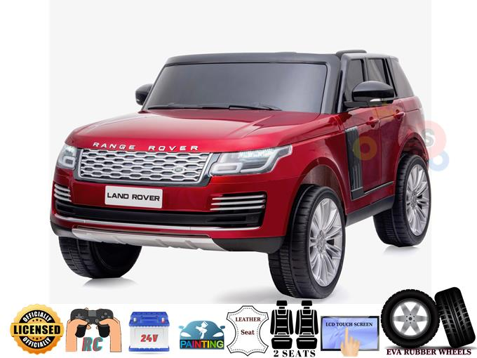 2 Seats Official Range Rover Complete MP4 Edition 24V Kids Ride On Car with RC