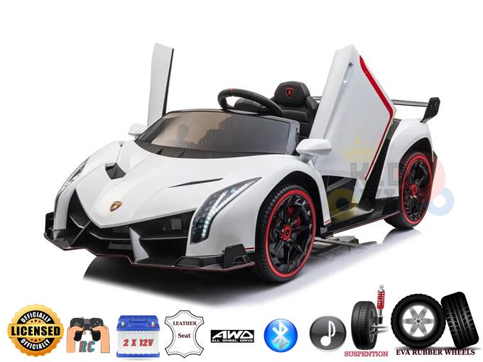 Limited Edition 2 Seater Lamborghini Veneno Kids and Toddlers 4WD Ride on Car with RC