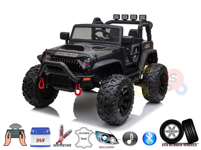 Upgraded 24V Big Eva Wheels Edition Kids Ride on Truck with RC