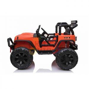 kidsvip 24v ride on truck rubber wheels leather seat big wheels lifted crowler orange 10