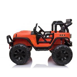 kidsvip 24v ride on truck rubber wheels leather seat big wheels lifted crowler orange 4