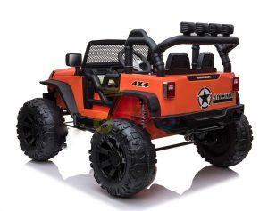 kidsvip 24v ride on truck rubber wheels leather seat big wheels lifted crowler orange 7