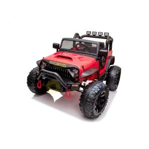 kidsvip 24v ride on truck rubber wheels leather seat big wheels lifted crowler red 19