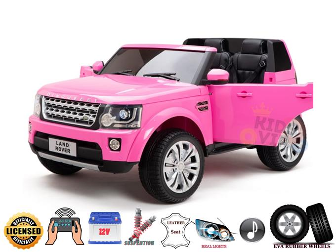 2 Seats Licensed 12V Land Rover Discovery Ride On Truck with RC & Rubber wheels