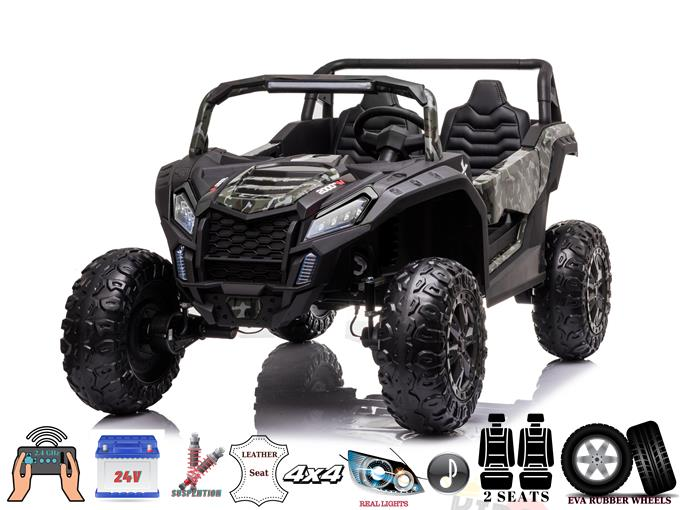 2 Seater XXL Blade BT 4WD Edition 24V Kids Ride On UTV, Buggy with RC