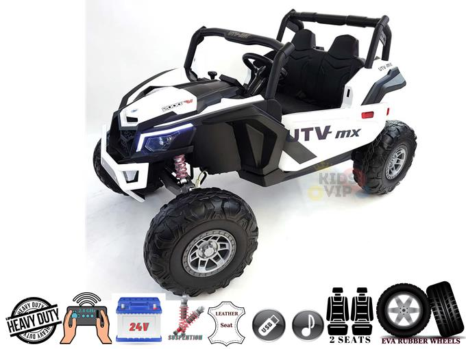 XXL 2 Seats Challenger MX Buggy 24V Edition Kids Ride On Car/ UTV with RC, Rubber Wheels